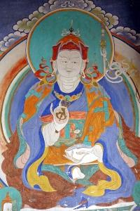 PADMASAMBHAVA, wall painting in Bhutan, Baldiri, 2007