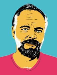 Philip K. Dick Portrait by Pete Welsch Washington, DC